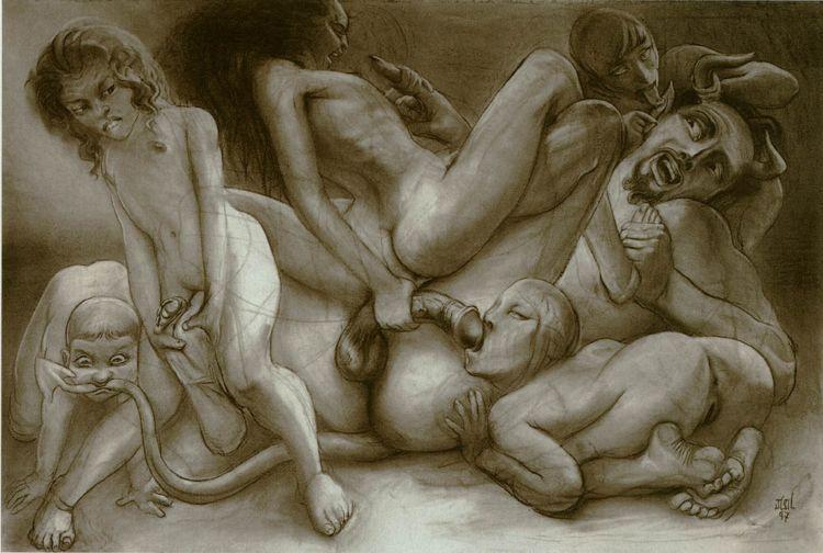 Художников секс молодых